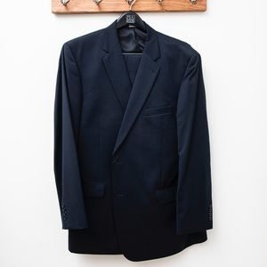 Joseph A. Bank navy suit